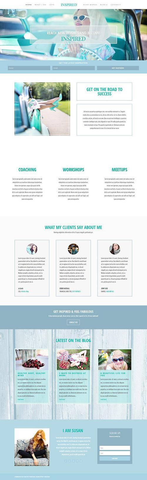 Inspired v1.0 - WordPress Blog Theme - CM 1685182