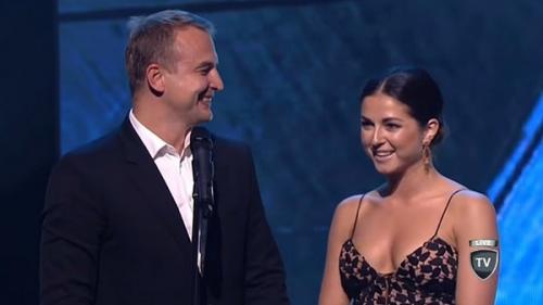 Игорь Сивов и Нюша вручают награды лучшим деятелям спорта