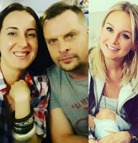 Александр Носик с супругой Ольгой и Анастасия Крайнова