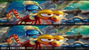 Смурфики: Затерянная деревня 3D / Smurfs: The Lost Village 3D (Лицензия by Ash61) Вертикальная анаморфная стереопара