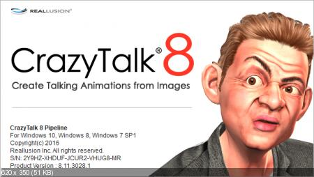 Reallusion CrazyTalk Pipeline 8.11.3028.1 Portable + Resource Pack Rus