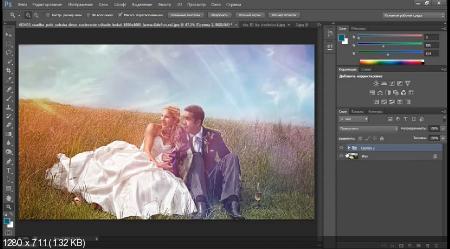 Художественная обработка свадебной фотографии (2017) HDRip