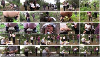 Outdoor Scat (MilanaSmelly) Happy birthday! Shit and earwax! [HD 720p] Group, Defecation