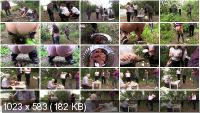 Outdoor Scat: (MilanaSmelly) - Happy birthday! Shit and earwax! [HD 720p] - Group, Defecation